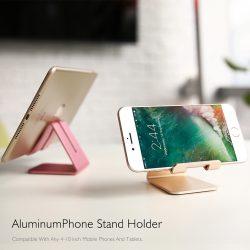 Universal Aluminum Metal Stand Phone Holder For iPad iPhone Samsung